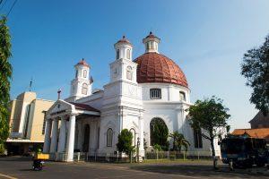 Tempat ziarek umat Nasrani - Gereja Blenduk, Semarang, Jawa Tengah